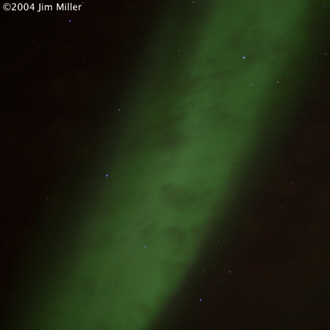 2004 Northern Lights ©2004 Jim Miller - Canon EOS 10D, EF 50mm f2.5 Macro Lens