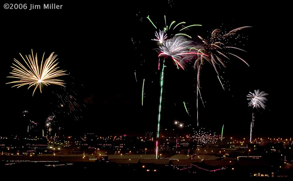 New Year's Eve in Reykjanesbær ©2003 Jim Miller - Canon EOS 10D, Canon EF 17-40mm f4L