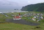 Overlooking Vík Church and Village